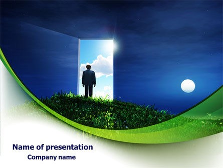Consulting: Between Nigh And Day PowerPoint Template #07976