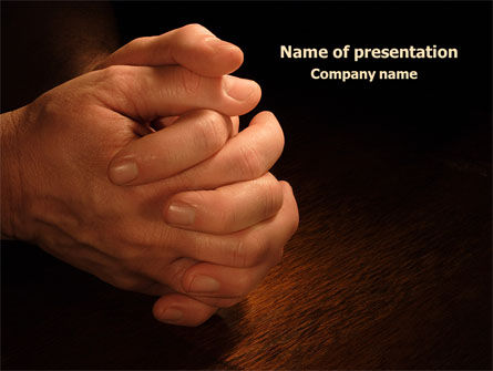 Religious/Spiritual: Clenched Hands PowerPoint Template #07977