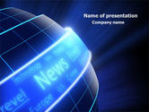 Careers/Industry: News Media PowerPoint Template #07978