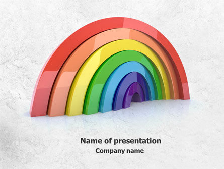 Rainbow In 3D PowerPoint Template