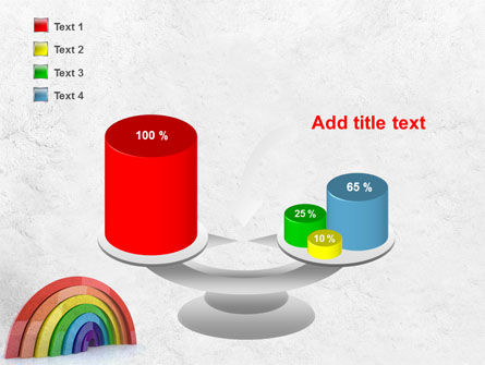 Rainbow In 3D PowerPoint Template Slide 10