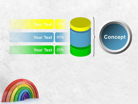 Rainbow In 3D PowerPoint Template Slide 11