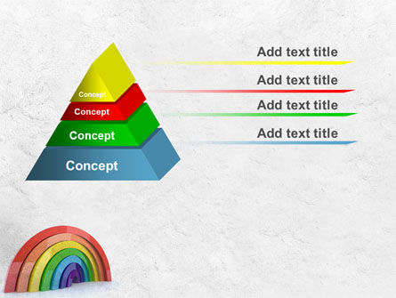 Rainbow In 3D PowerPoint Template Slide 12