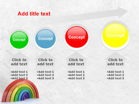 Rainbow In 3D PowerPoint Template Slide 13