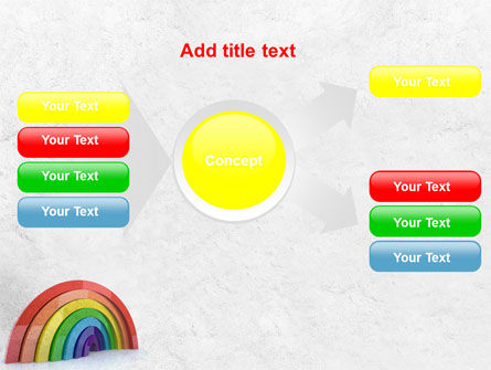 Rainbow In 3D PowerPoint Template Slide 14