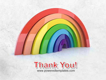 Rainbow In 3D PowerPoint Template Slide 20