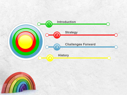 Rainbow In 3D PowerPoint Template Slide 3
