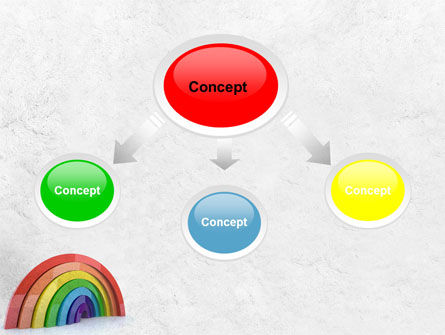 Rainbow In 3D PowerPoint Template Slide 4