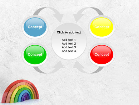 Rainbow In 3D PowerPoint Template Slide 6