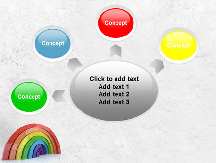 Rainbow In 3D PowerPoint Template Slide 7
