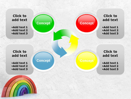 Rainbow In 3D PowerPoint Template Slide 9