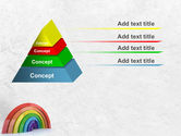 Rainbow In 3D PowerPoint Template#12