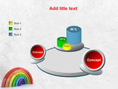 Rainbow In 3D PowerPoint Template#16