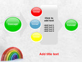 Rainbow In 3D PowerPoint Template#17