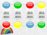 Rainbow In 3D PowerPoint Template#18