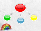 Rainbow In 3D PowerPoint Template#4