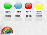 Rainbow In 3D PowerPoint Template#5
