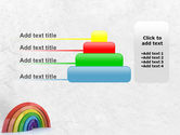 Rainbow In 3D PowerPoint Template#8