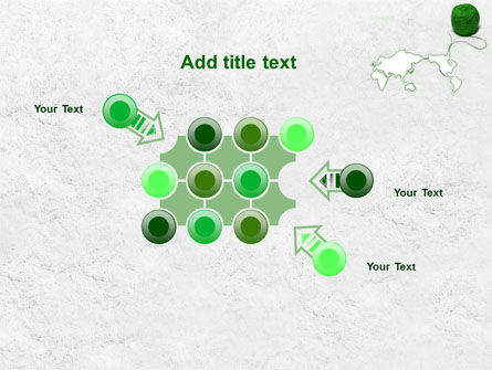 Tangle Of Green Yarn Around The World PowerPoint Template Slide 10