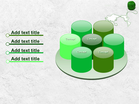 Tangle Of Green Yarn Around The World PowerPoint Template Slide 12