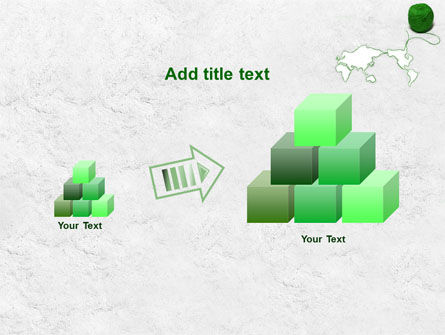Tangle Of Green Yarn Around The World PowerPoint Template Slide 13