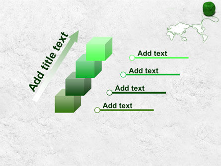 Tangle Of Green Yarn Around The World PowerPoint Template Slide 14