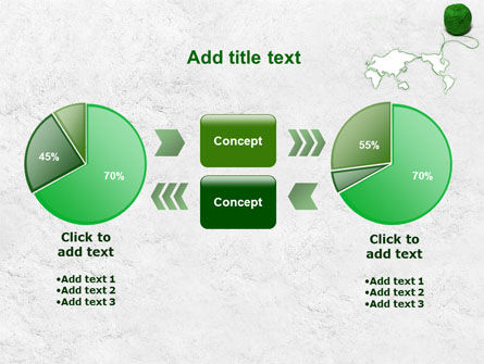 Tangle Of Green Yarn Around The World PowerPoint Template Slide 16