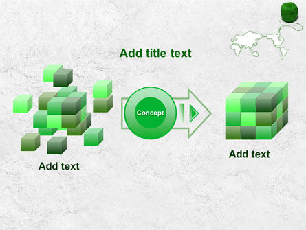 Tangle Of Green Yarn Around The World PowerPoint Template Slide 17