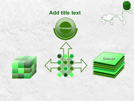 Tangle Of Green Yarn Around The World PowerPoint Template Slide 19