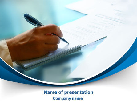 Business: Making Notes PowerPoint Template #07982