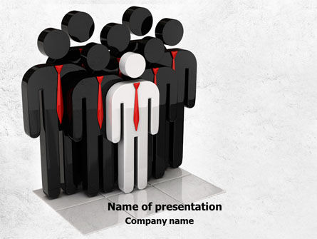 Business Team Leader PowerPoint Template, 07983, Education & Training — PoweredTemplate.com