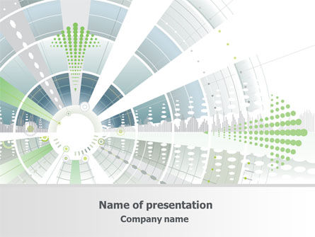 Abstract/Textures: Abstract Reactor Theme PowerPoint Template #07984