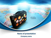 Careers/Industry: International Tourism PowerPoint Template #07989