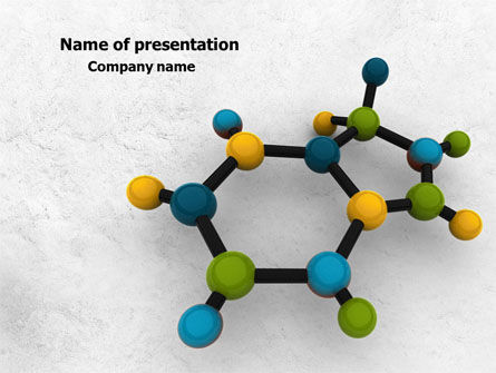 Molecule PowerPoint Template, 07990, Technology and Science — PoweredTemplate.com