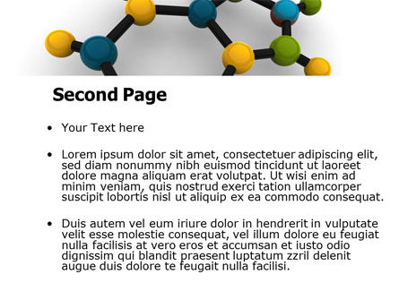 Molecule PowerPoint Template, Slide 2, 07990, Technology and Science — PoweredTemplate.com