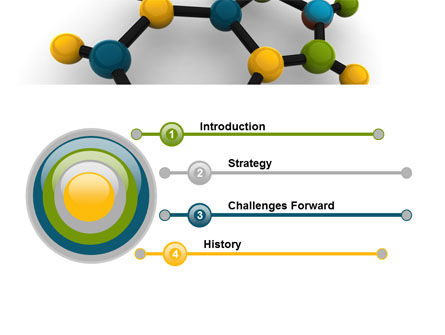Molecule PowerPoint Template, Slide 3, 07990, Technology and Science — PoweredTemplate.com