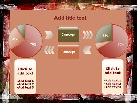 Red Scratched Background PowerPoint Template Slide 11