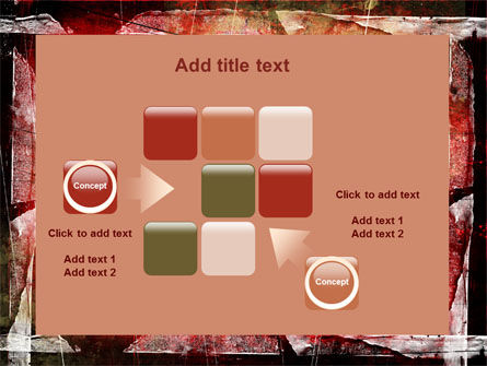 Red Scratched Background PowerPoint Template Slide 16