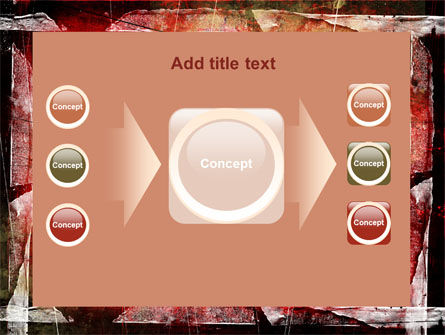Red Scratched Background PowerPoint Template Slide 17