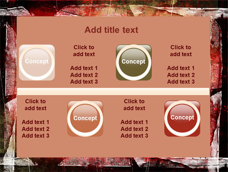 Red Scratched Background PowerPoint Template Slide 19
