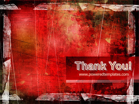 Red Scratched Background PowerPoint Template Slide 20