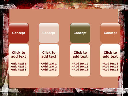 Red Scratched Background PowerPoint Template Slide 5