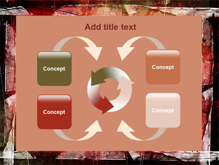 Red Scratched Background PowerPoint Template Slide 6