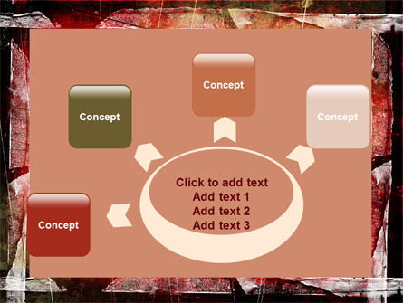 Red Scratched Background PowerPoint Template Slide 7