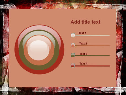 Red Scratched Background PowerPoint Template Slide 9