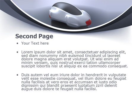 Concept Car PowerPoint Template Slide 2