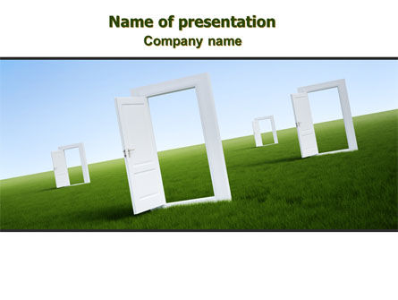 Business Concepts: Open Doors PowerPoint Template #08000
