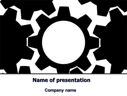 Gear Wheels Mechanism PowerPoint Template