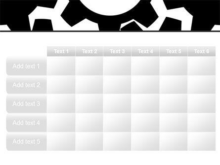 Gear Wheels Mechanism PowerPoint Template Slide 15