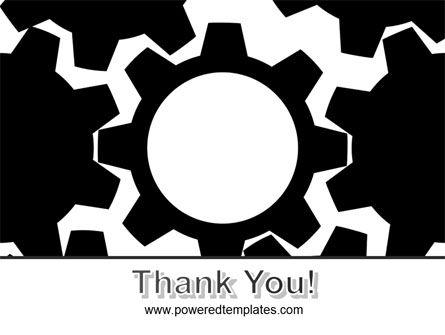 Gear Wheels Mechanism PowerPoint Template Slide 20